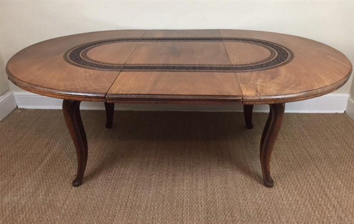 Macintosh antiques an anglo indian walnut extending for Extendable dining table india