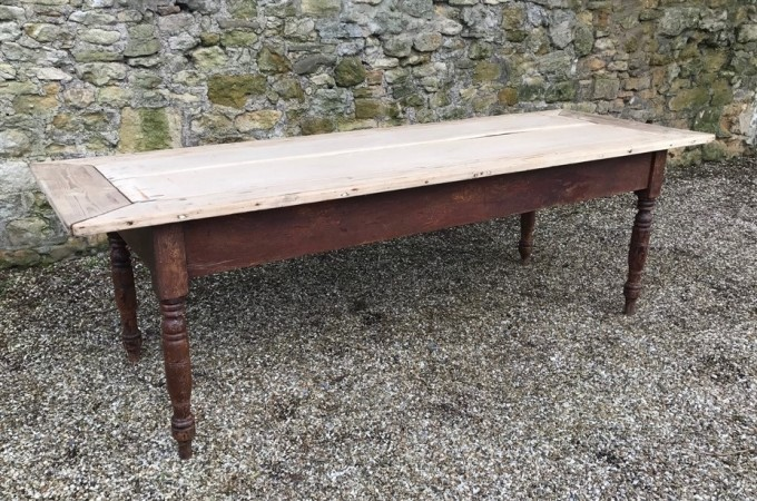 Macintosh Antiques A Victorian Pine Kitchen Table Circa 1880 With